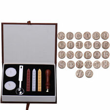 Classic Initial Letter A-Z Alphabet Wax Badge Seal Stamp Kit Wax Set Tool Gift