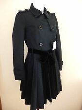 RED VALENTINO - MANTEAU TRENCH - TULLE NOIR - TAILLE 40it soit 36fr - NEUF