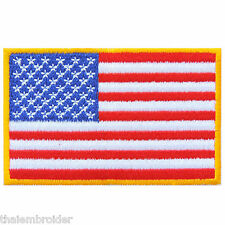 American USA US United State Flag Nation Country Color Iron-On Patches #FL008