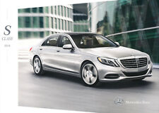2014 Mercedes Benz S550 S63 AMG 32-page S-Class Car Sales Brochure Catalog