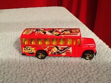 1988 Hot Wheels Red Sideshow Bus The Flying Finizzas Die Cast Car