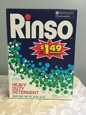 Vintage Rinso Laundry Detergent 32 oz Heavy Duty NOS SEALED BOX Rare