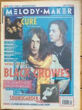 Melody Maker 18/4/92 The Black Crowes cover, Vic Reeves, Flowered Up, Altern 8