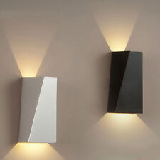 Warm White Modern LED Wall Lights Up Down Cube Indoor Outdoor Sconce Lamps 10W