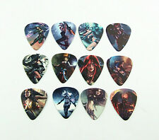 10pcs 1.0mm Beauty League of legends Two sides Guitar Picks Plectrums Collection