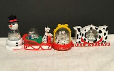 101 Dalmatians Disney Christmas Ornaments Mcdonalds lot of 4 Snow Globes