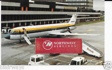 MONARCH AIRLINES  BAC 1-11 JET AT MANCHESTER AIRPORT IN 1970'S POSTCARD