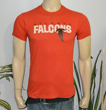 RaRe *1980s ATLANTA FALCONS* vtg red football t-shirt (M) 70s 80s NFL Georgia