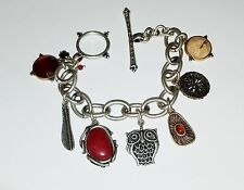 Genuine Lucky Brand Two Tone Charm Bracelet,  New With Tags
