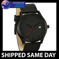 MM MENS FASHION DRESS WATCH Gold Silver Strap Band Army Military Faux Leather D5