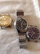 3 Watches Omnia , Trend & Citizen Automatic - Spares Or Repair .