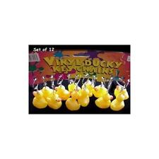 "12 Rubber Duck Ducky Duckie Keychains Baby Shower Birthday Party Favors, 2"" x"