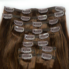 "180g Straight 20""Long #2 Dark Brown 10pcs Clip In 100% Remy Human Hair Extension"