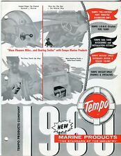 "Boat Re: Vintage 1960 ""TEMPO"" Sales Catalog: ""MARINE PRODUCTS"""