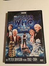 """Doctor Who """"The Five Doctors"""" Special Edition DVD OOP Peter Davidson Years"""
