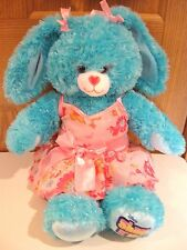 "Build A Bear turquoise 18"" Shake It Up Disney bunny rabbit with pink dress BABW"