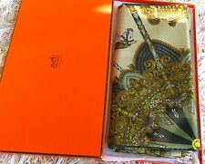 "Hermes Scarf GM Shawl Silk & Cashmere  ""Luna Park"" 140cm - 100% Authentic in Box"
