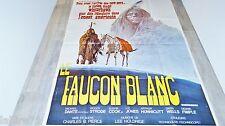 LE FAUCON BLANC  ! magnifique affiche cinema indiens western