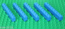 Lego Blue Brick 1x8 5 pieces NEW!!!