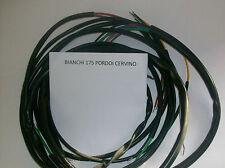 IMPIANTO ELETTRICO ELECTRICAL WIRING MOTO BIANCHI PORDOI CERVINO 175+SCHEMA