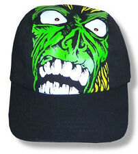 ROB ZOMBIE - ALL OVER PRINT GREEN ZOMBIE CARTOON FITTED HAT CAP - NEW