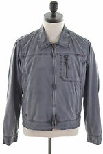 MARLBORO CLASSICS Mens Denim Jacket Size 38 Medium Grey Cotton