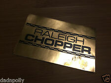 RALEIGH CHOPPER MK 1 SEAT PLATE DECAL - SHINY GOLD - CHOPPER SEAT STICKER