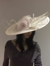 NIGEL RAYMENT CRYSTAL IVORY PINK WEDDING Hatinator Disc Occasion Hat Sale