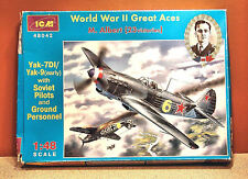 1/48 ICM YAK-7D/YAK-9 w/SOVIET PILOTS AND GROUND PERSONNEL MODEL KIT # 48042