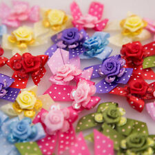 Dog Grooming Bows, Dog Hair Bows, Flowers Bow, Made In USA 12 Pcs. Glitter Roses