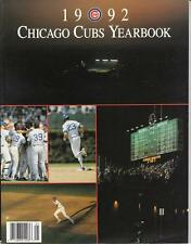 1992 CHICAGO CUBS Baseball Yearbook Magazine NR MT