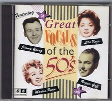 CD GREAT VOCALS OF THE 50'S JIMMY YOUNG PETULA CLARK MARION RYAN LITA ROZA