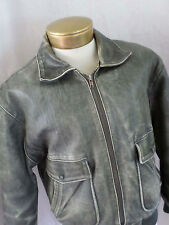 LIMITED EXPRESS A-1 flight military retro distressed leather jacket SMALL MEDIUM