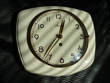 Vintage Art Deco style 1960s Ceramic Kitchen Wall clock MAUTHE Made in Germany