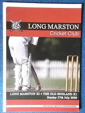 Long Marston v The Old England X1 Cricket Programme. 27/7/08