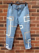 LEVIS Womens Made & Crafted Boy Fit Boyfriend Light Blue Jeans Size 10