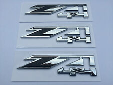 3pcs Chrome for GMC Chevy Silverado Sierra Tahoe Suburban Z71 4x4 Emblems OEM
