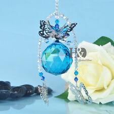 Butterfly Crystal Suncatcher Feng Shui Prisms Pendant Pendulum Hanging Drop 40mm