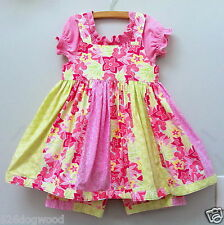 Custom Boutique Resell 2T 3T 4T Spring Floral 3PC Twirl Dress Blouse Shorts Set