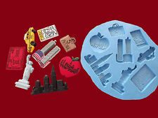 New York City NYC cake decorating sugarcraft silicone mould set food grade