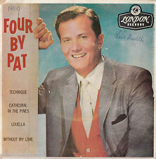 PAT BOONE Four By Pat 1960s Mono EP