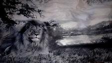 tissu polyester microfibre mousseline gros motif gris/noir/blanc 100X150 cm