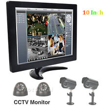 "10"" TFT LCD HD Color Monitor Screen Display BNC VGA HDMI Video For PC Home CCTV"