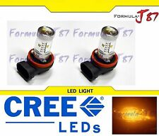 CREE LED 30W H11 ORANGE AMBER TWO BULB HEAD LIGHT FOG JDM COLOR REPLACEMENT FIT