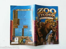 Notice/manuel Zoo tycoon 1 Complete collection PC FR