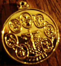 7 AFRICAN POWERS COIN seven GOLD PLATED santeria + FREE GIFT siete potencias