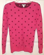 Womens OLD NAVY~Burgundy PINK POLKA DOT TOP~size SMALL~NEW~Knit Sweater Blouse