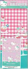 HELLO KITTY - Quality official Party PLASTIC TABLE COVER - Size 138cm x 183cm