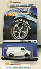 Ford Transit Supervan * White * Hot Wheels Heritage w/ Real Riders * W9