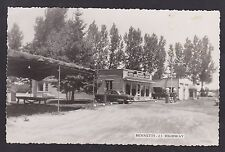 1950 Real Photo Postcard Bennetts Restaurant & Shell Gas near CAYUGA, Ontario